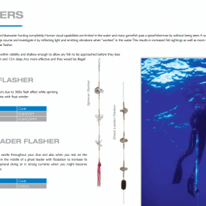 Spearfishing equipment - spinner flasher