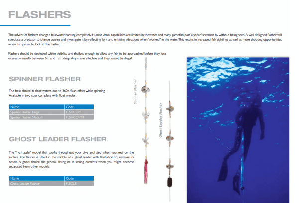 Spearfishing equipment - spinner flasher