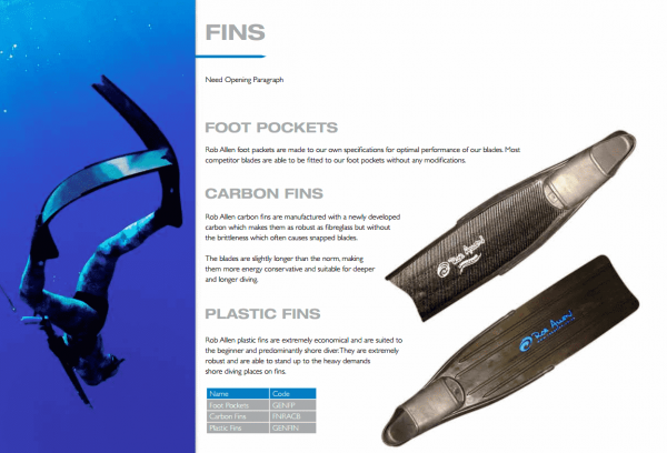 Spearfishing fins