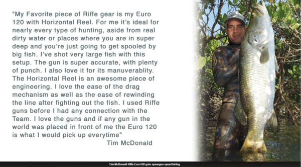 Riffe Euro Series speargun Tim McDonald