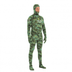 HECS dive skin suit green side