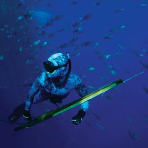 Riffe Bluewater speargun in water