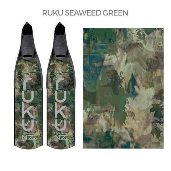 Ruku fins Seaweed Green Camo