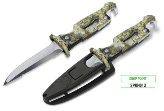 Omer drop point black knife