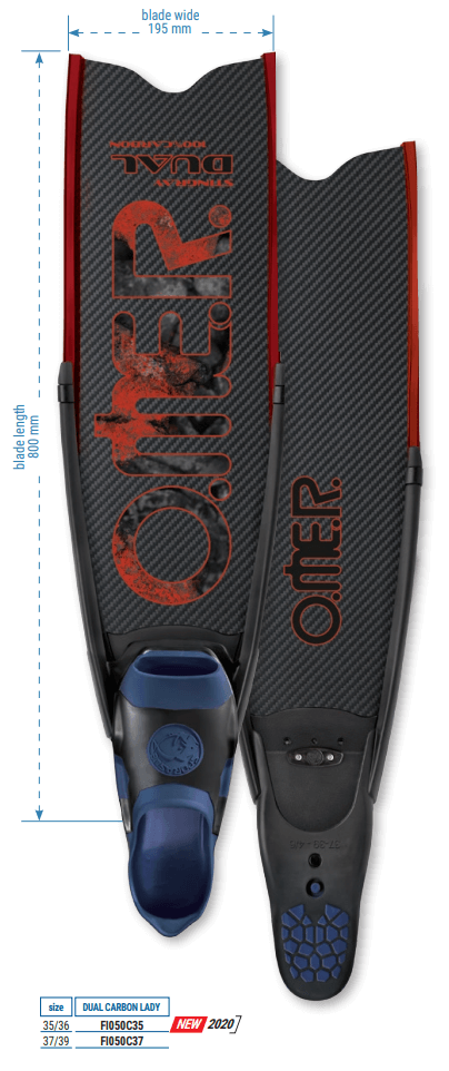 Omer Stringray dual carbon lady fins