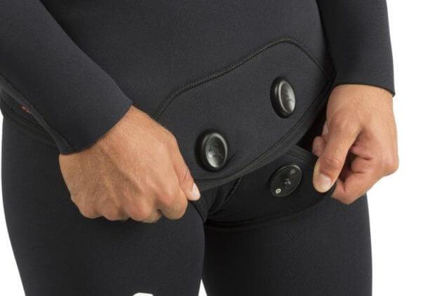 Cressi Apnea wetsuit closure