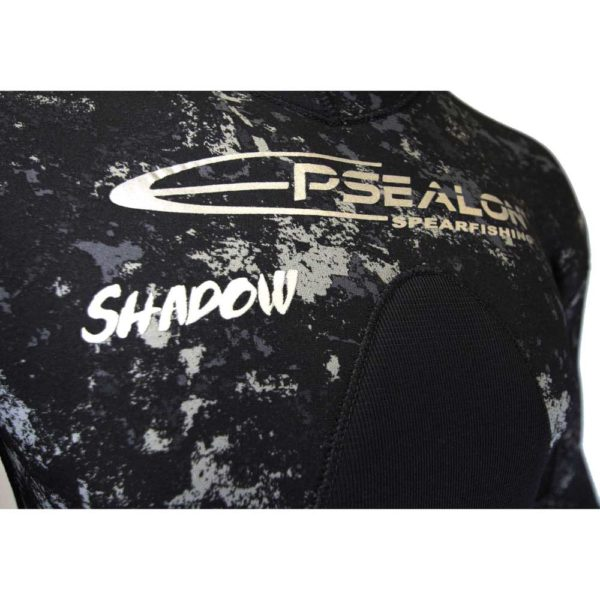 Epsealon Shadow Camo wetsuit closeup