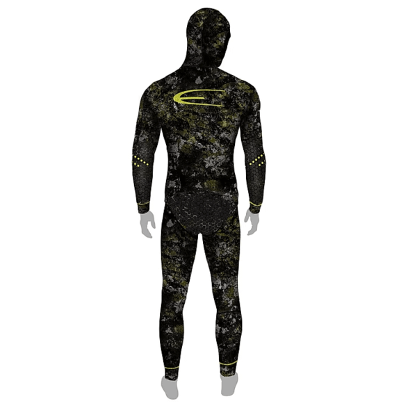 Epsealon Tactical Stealth wetsuit back