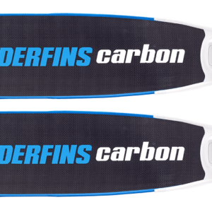 Leaderfins pure carbon bi-fins blue