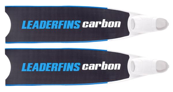 Leaderfins pure carbon bi-fins blue