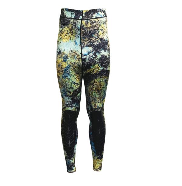 Riffe Digi-tek slim fit camo wetsuit high waist trousers