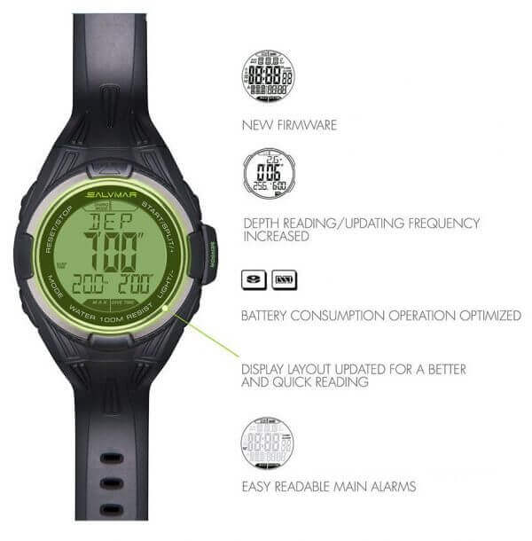Salvimar One Plus Freediving watch info