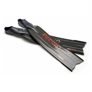 CarbonioGFT Force Carbon fins black