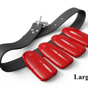 Lobster weight belt large red