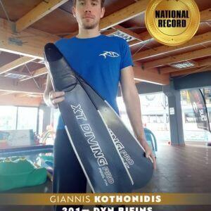 XT Diving Pro Pteryx Pool Carbon Fins Giannis Kothonidis