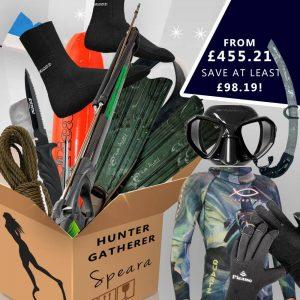 Hunter gatherer spearfishing gear package for spearas / women