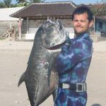 Spearfishing catch - on the beach