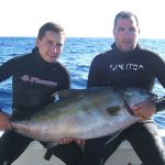 Spearfishing in the Azores - on the boat